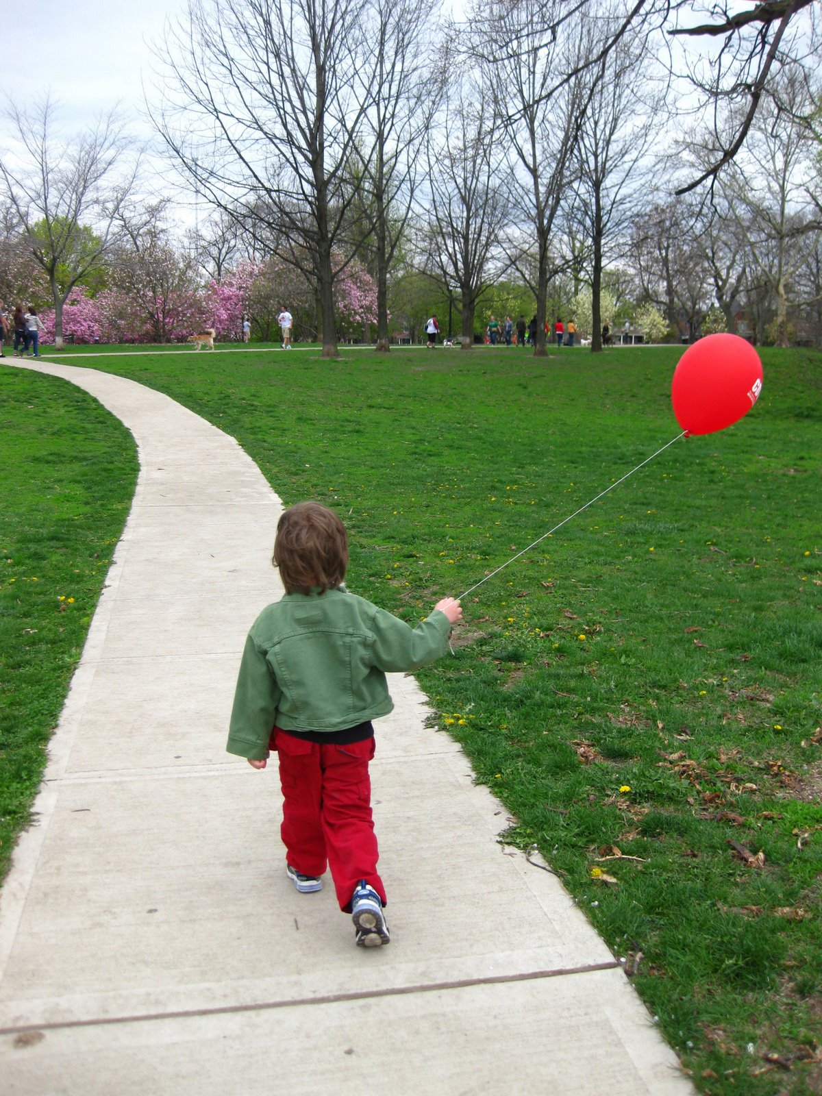 Walking with a balloon